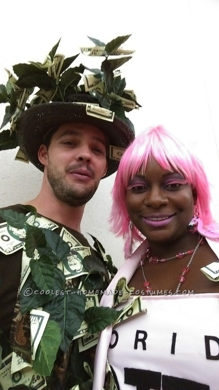 Hottest Lotto Ticket and Money Tree Couple Costume