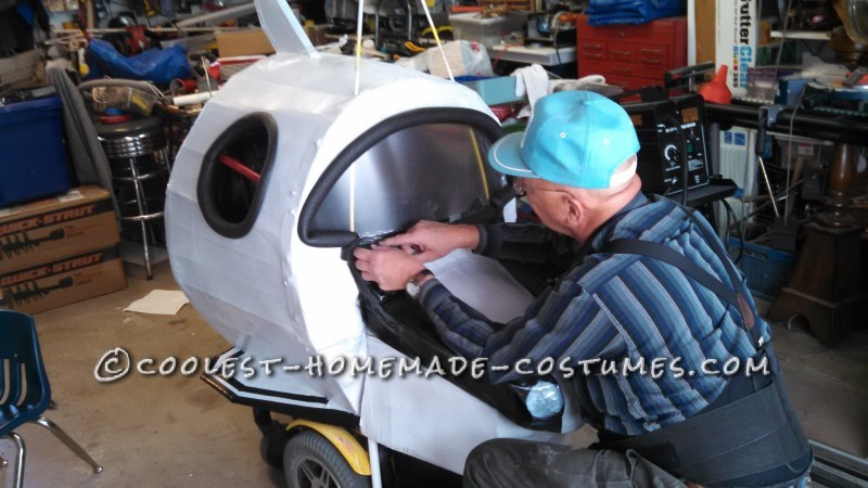 Amazing Rocket Ship Astronaut Wheelchair Costume - 8