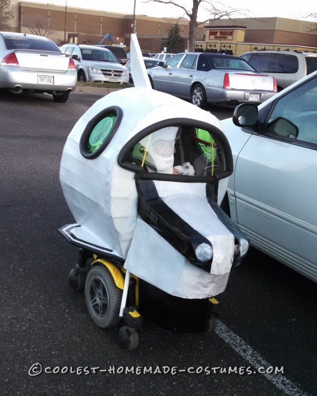 Amazing Rocket Ship Astronaut Wheelchair Costume
