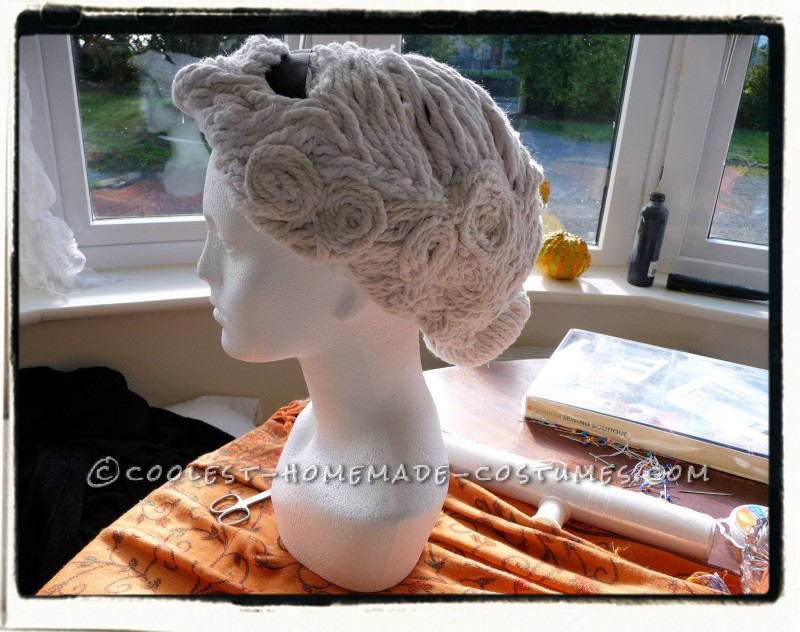 The Angel Wig is constructed!