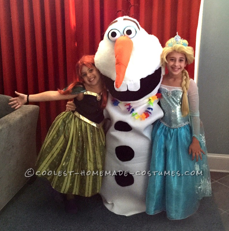Coolest Homemade Olaf Costume - 1