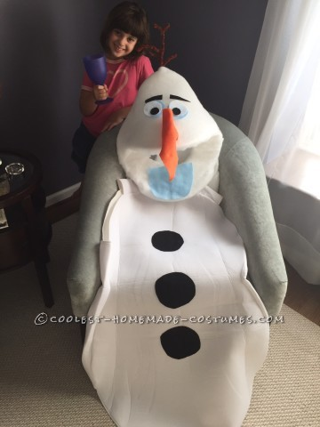Coolest Homemade Olaf Costume