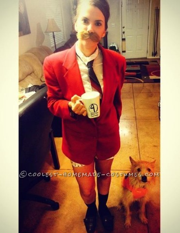 A Ron Burgundy Costume for a Woman