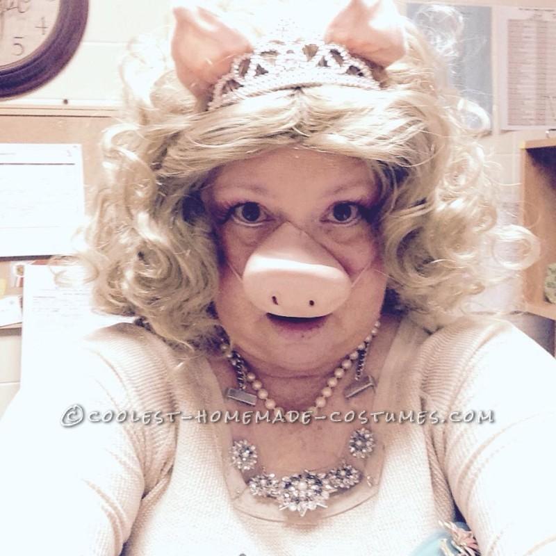 Coolest Homemade Miss Piggy Costume