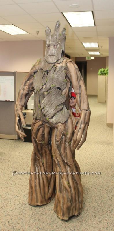 Amazing Homemade Groot Costume