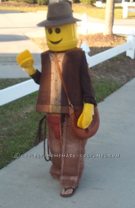 Coolest Homemade Indiana Jones Lego Mini-Figure Costume - 1