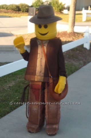 Coolest Homemade Indiana Jones Lego Mini-Figure Costume