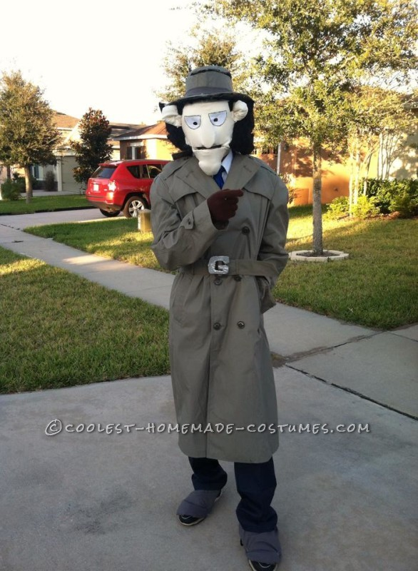 Original Inspector Gadget Costume with Copter and Hand Pop-Up