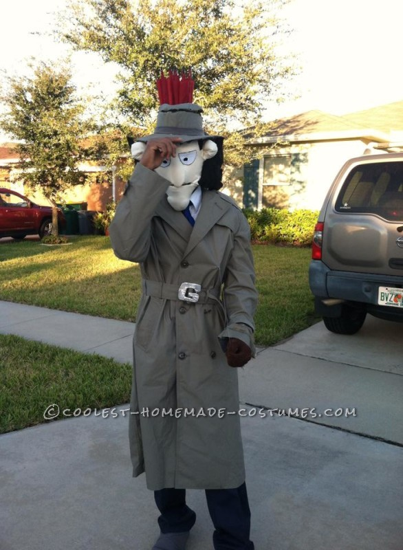 Original Inspector Gadget Costume with Copter and Hand Pop-Up - 1