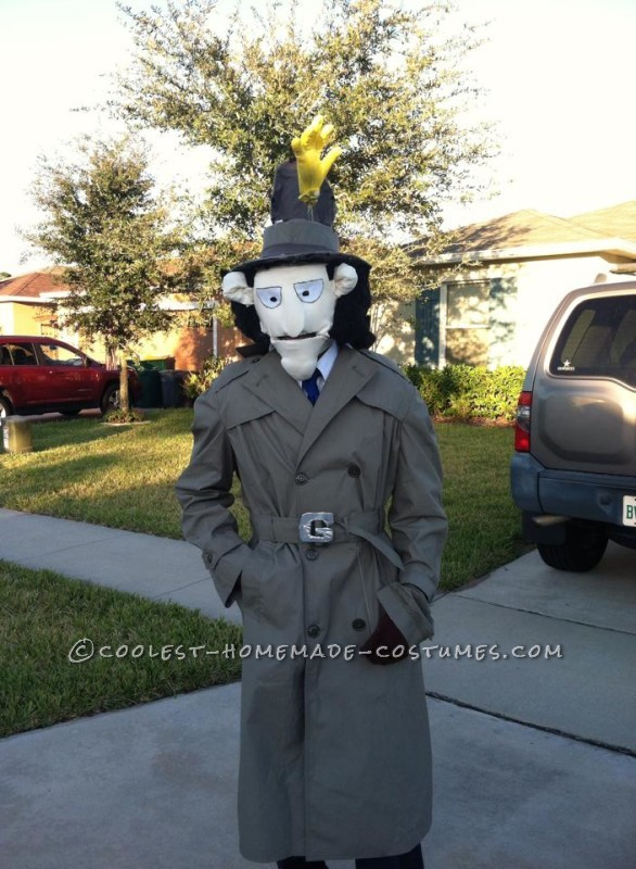 Original Inspector Gadget Costume with Copter and Hand Pop-Up - 3