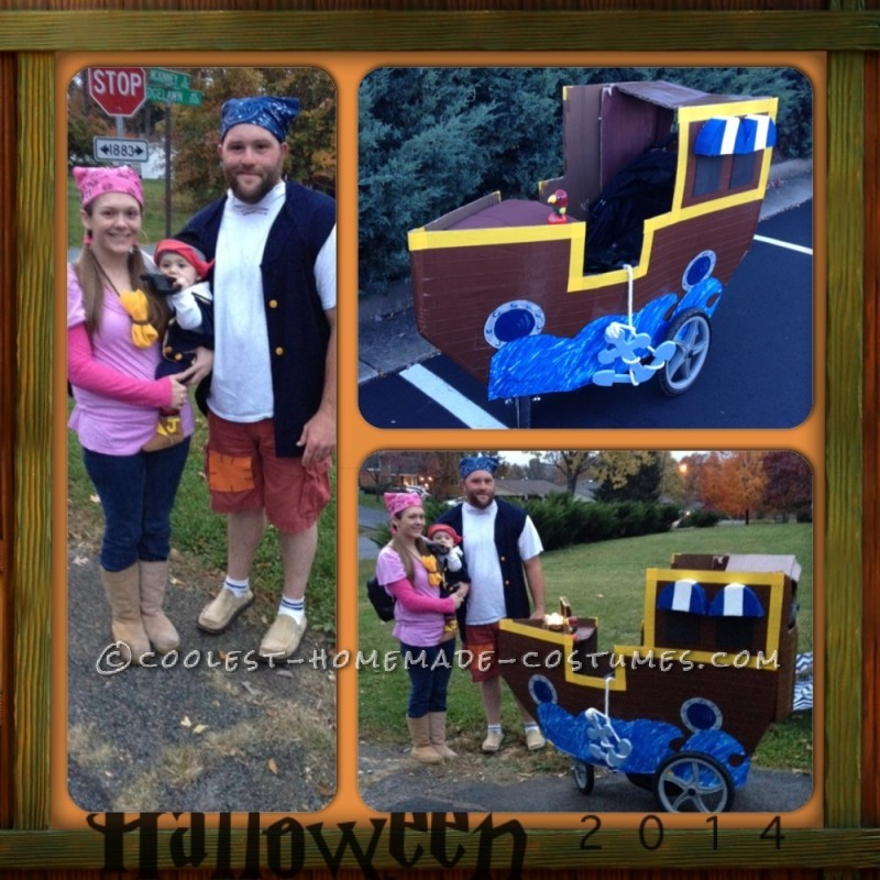 Jake and the Neverland Pirates Family Costume