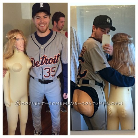 Justin Verlander Baseball Costume with Kate Upton