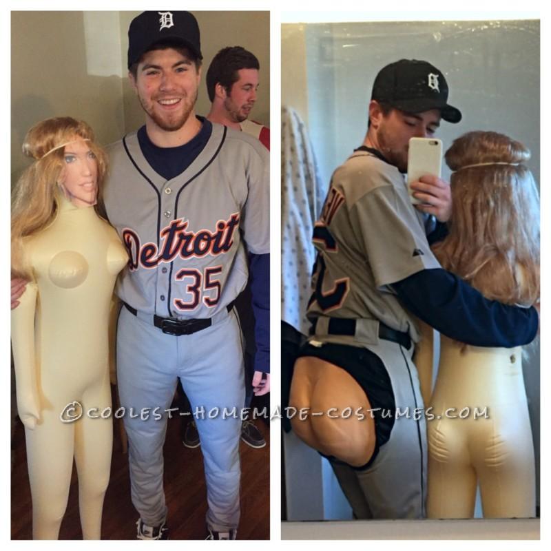 Justin Verlander Baseball Costume with Kate Upton