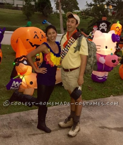 Homemade Kevin and Russell Adult Couple Costume