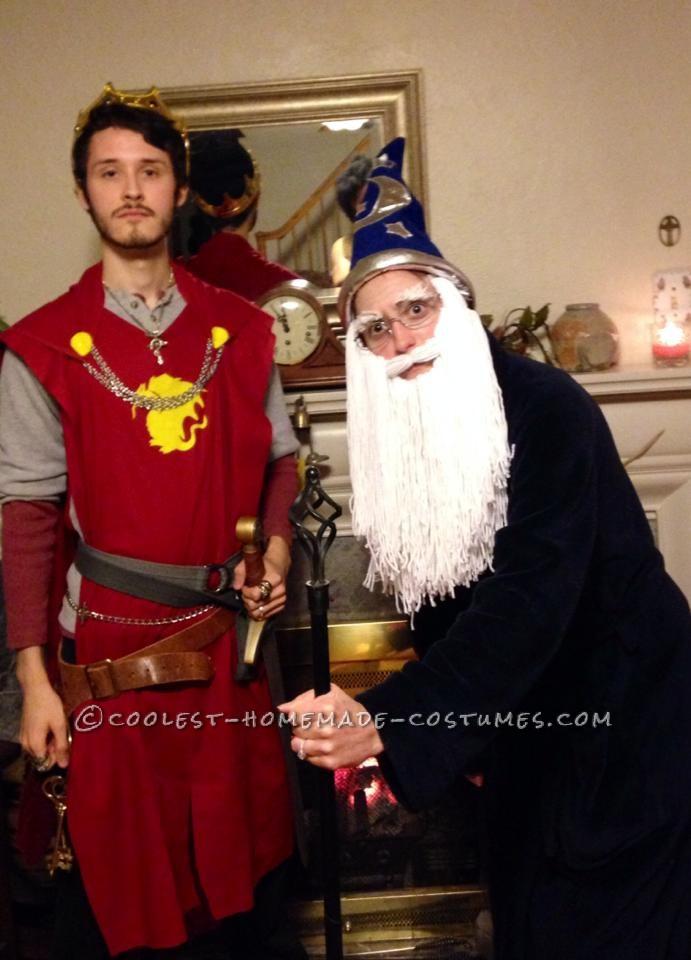 Cool DIY King Arthur and Merlin Couple Costume