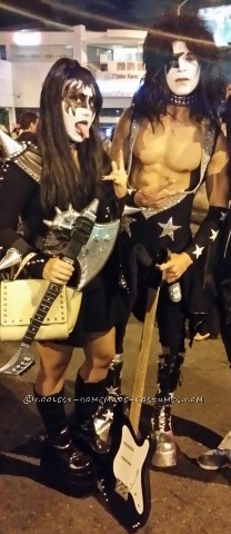 Sexy Gene Simmons and Paul Stanley KISS Couple Costume