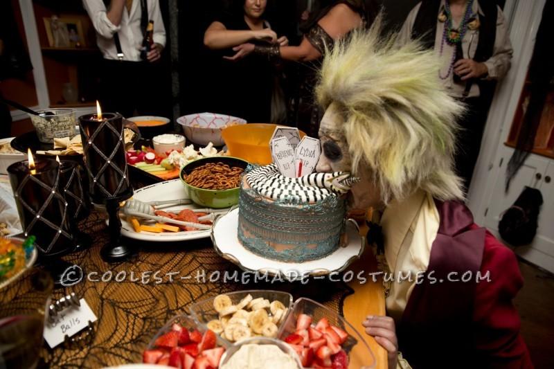 Enjoying the cake