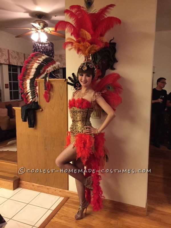 Beautiful Las Vegas Showgirl Costume