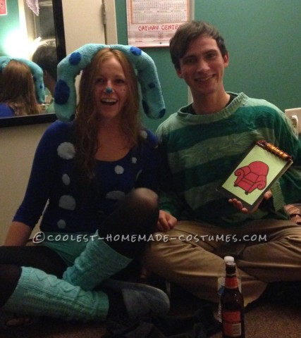 Last Minute Blues Clues Adult Couple Costume