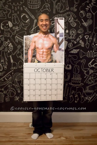 Last-Minute DIY Mr. October Fireman Calendar Costume