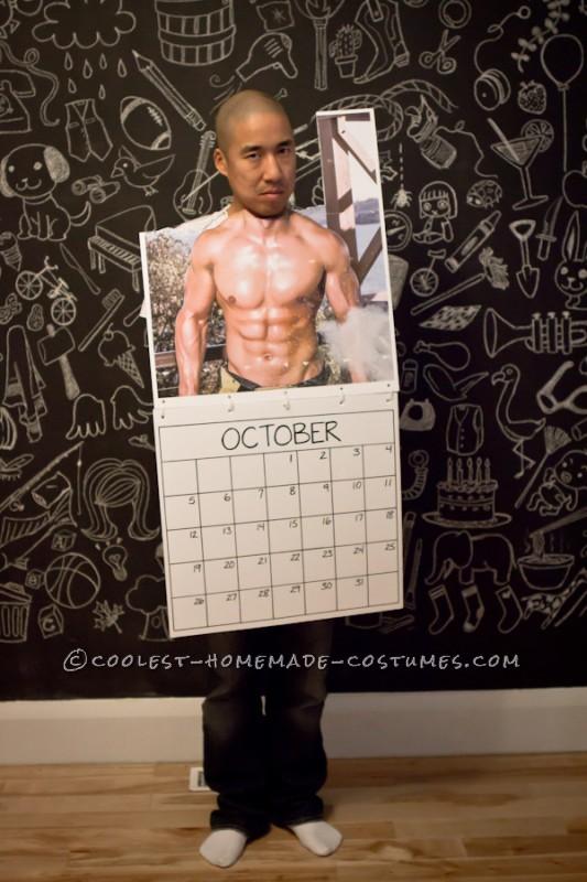 Last-Minute DIY Mr. October Fireman Calendar Costume
