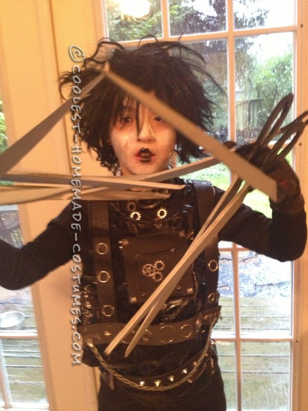 Last Minute Homemade Edward Scissorhands Costume - 1