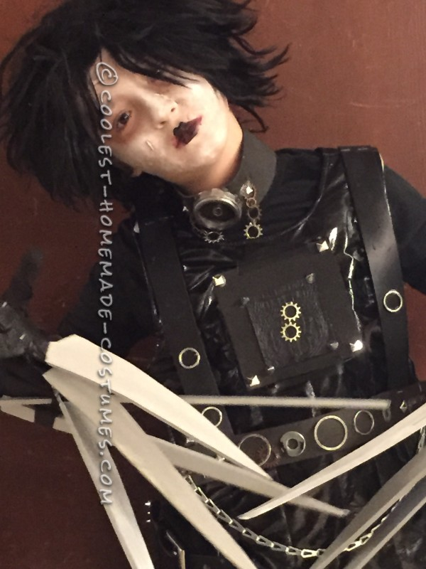 Last Minute Homemade Edward Scissorhands Costume - 3