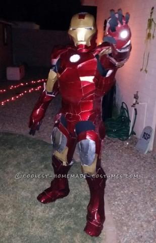 Last Minute Homemade Iron Man Costume