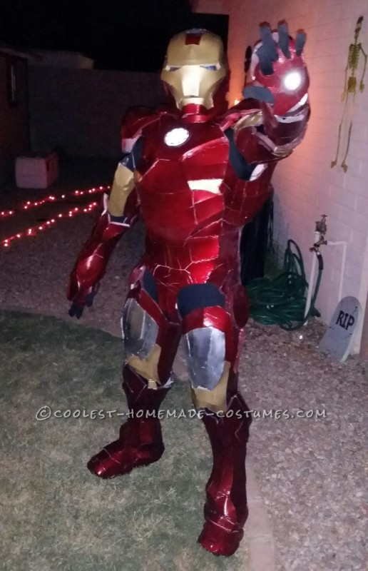 Last Minute Homemade Iron Man Costume