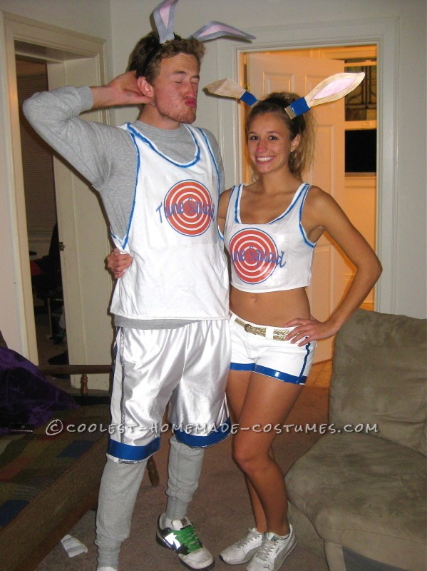 Last-Minute Space Jam Bugs Bunny and Lola Bunny Couple Costume