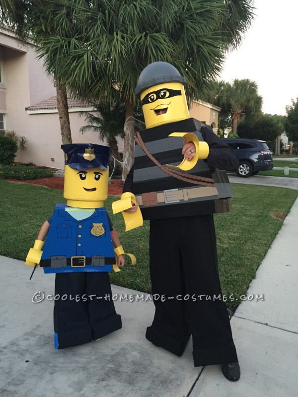 Cool Father/Son Costume: Lego City Police Officer and Burglar