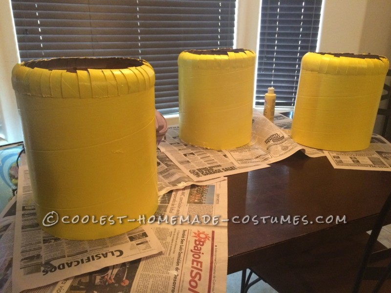 Yellow paint on cylinder heads