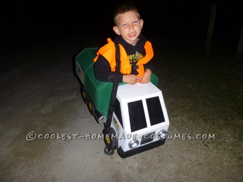 Homemade Lil' Garbage Truck Costume for a Boy