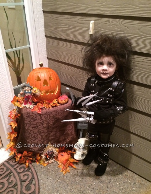 Little Edward Scissorhands Halloween Costume - 3