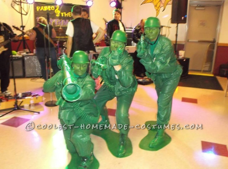 Coolest Homemade Plastic Toy Soldier Group Costume - 1