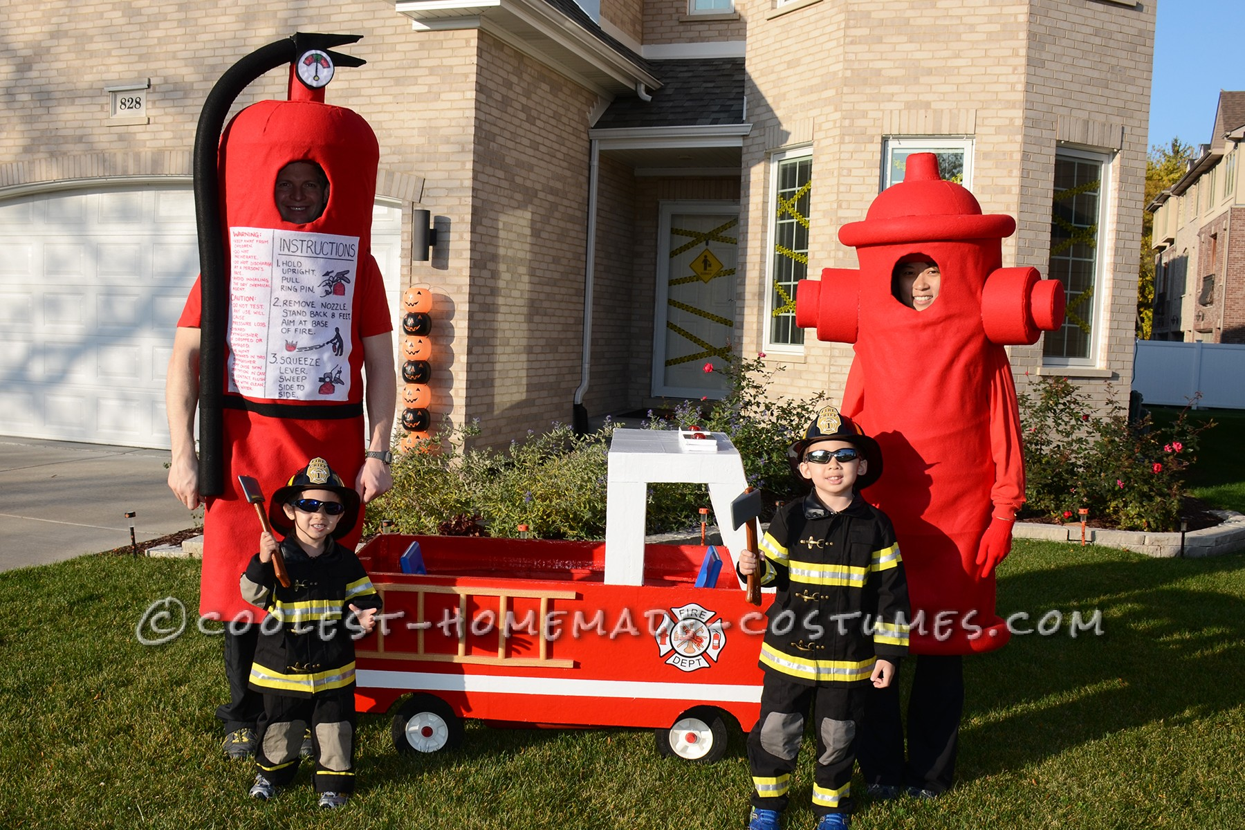 Coolest Fireman Family Costumes: Little Heroes with Big Hoses