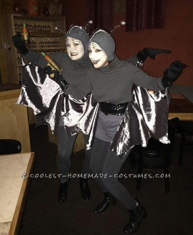 Lucy and Ethel Costumes as the Women from Mars