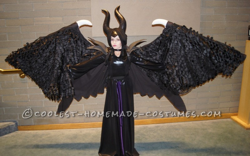Magnificent Maleficent Costume with Retracable Wings