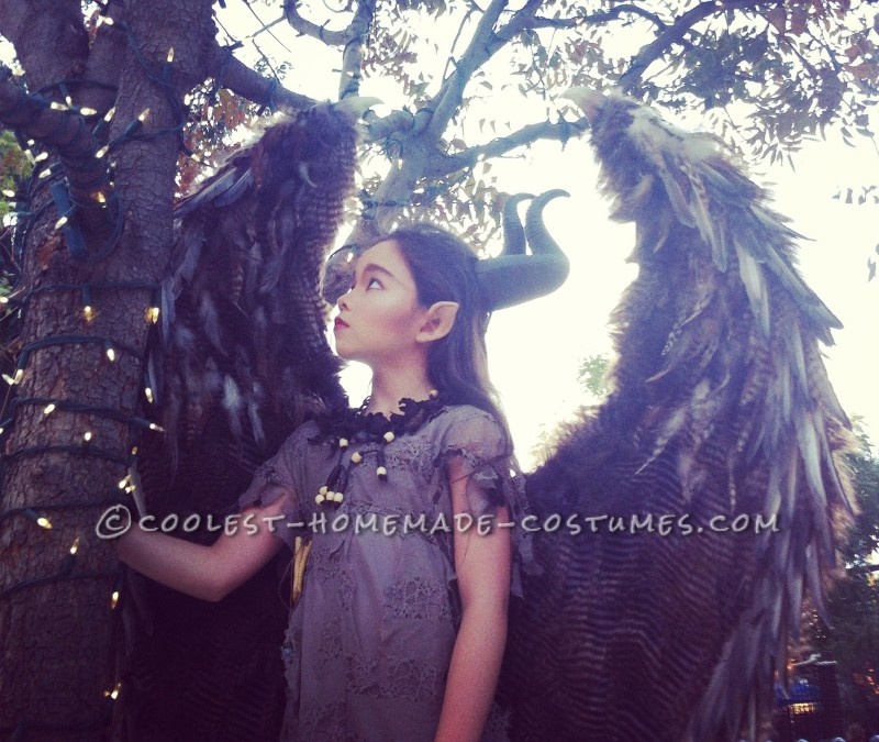 Young Maleficent greets the woodland dawn.