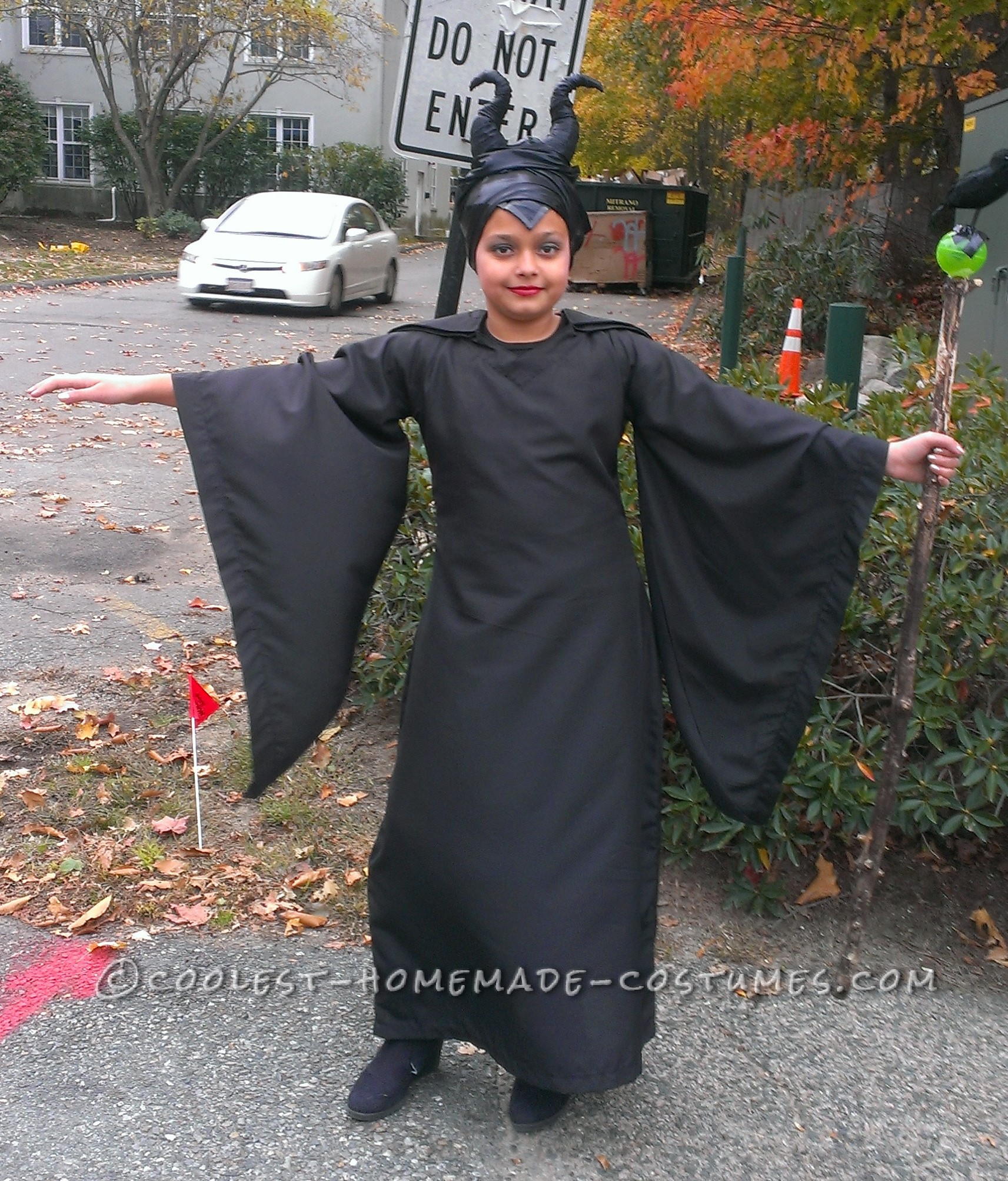 Homemade Maleficent Costume for a Child