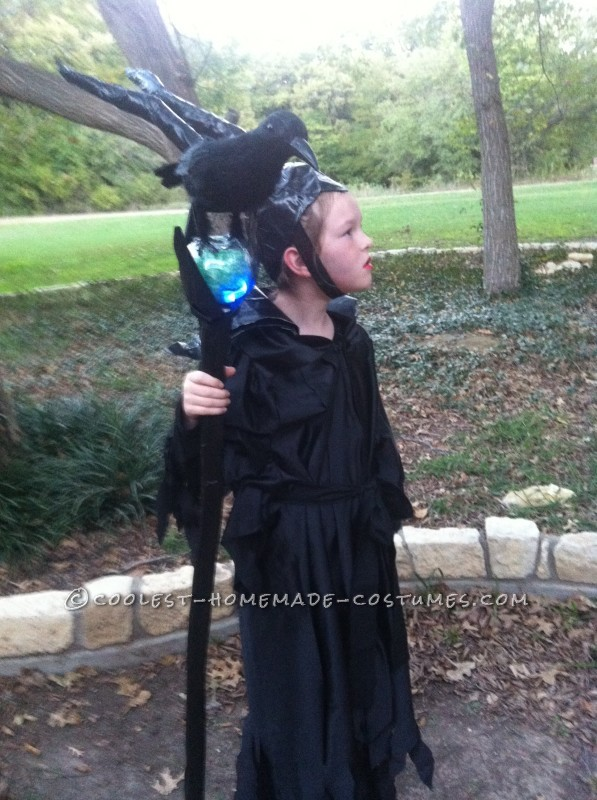 Homemade Maleficent Costume for a Girl