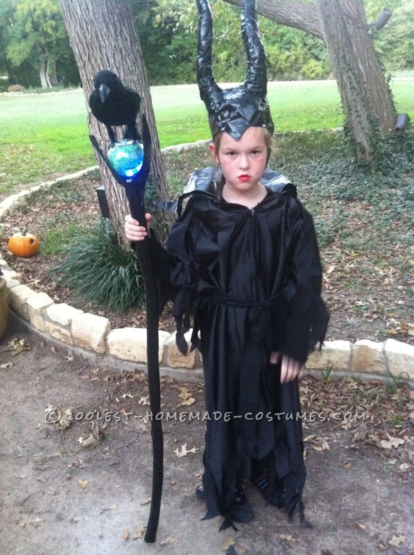homemade maleficent costume for a girl. Black Bedroom Furniture Sets. Home Design Ideas
