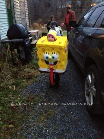 Homemade Spongebob Costume for a Boy