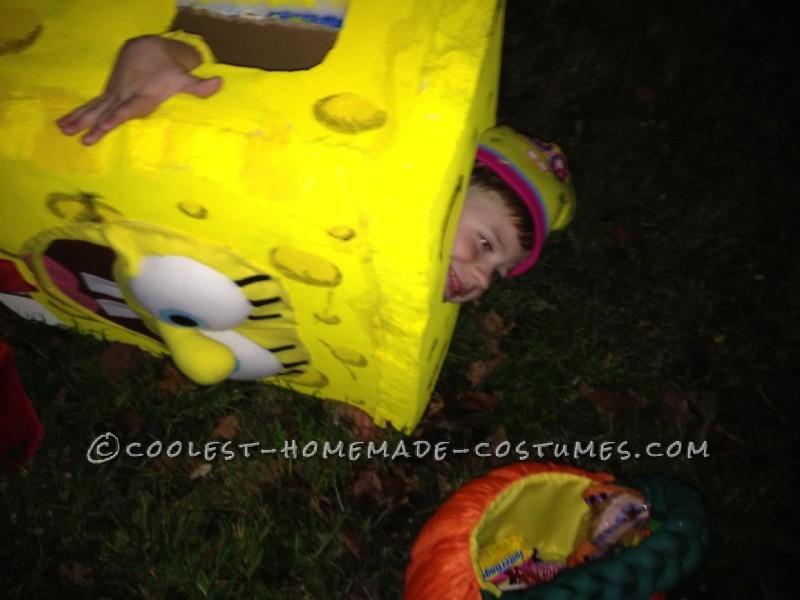 Homemade Spongebob Costume for a Boy