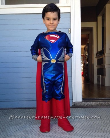 Man of Steel Superman Costume For a 5-Year-Old Boy