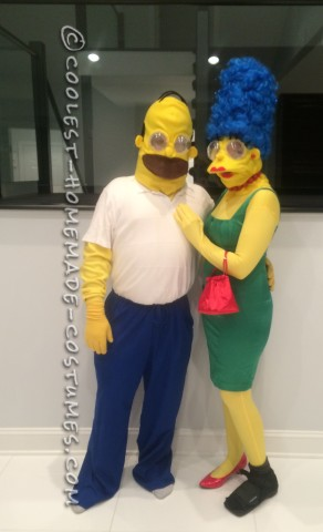 Marge and Homer Simpson Costumes