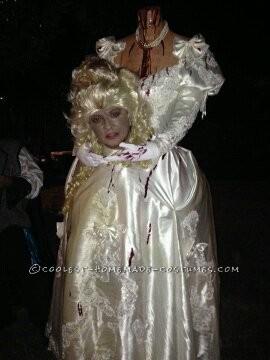 Homemade Headless Marie Antoinette Costume