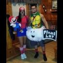 Homemade Mario and Lakitu (the Final Lap Guy) Couple Costume