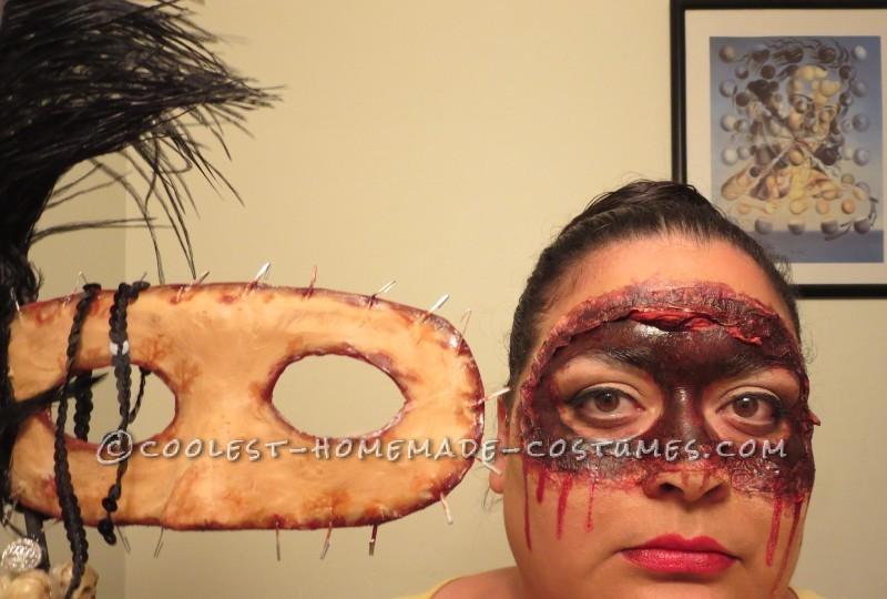 Homemade Masquerade Flesh Mask Costume - 2