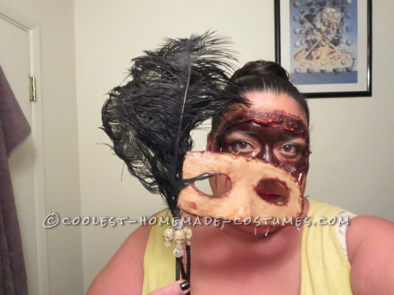 Homemade Masquerade Flesh Mask Costume